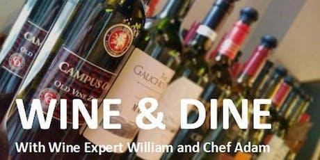 Wine & Dine: October tickets