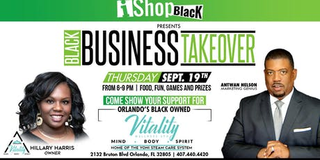 iShopBlack Business Takeover at Vitality Wellness Spa tickets