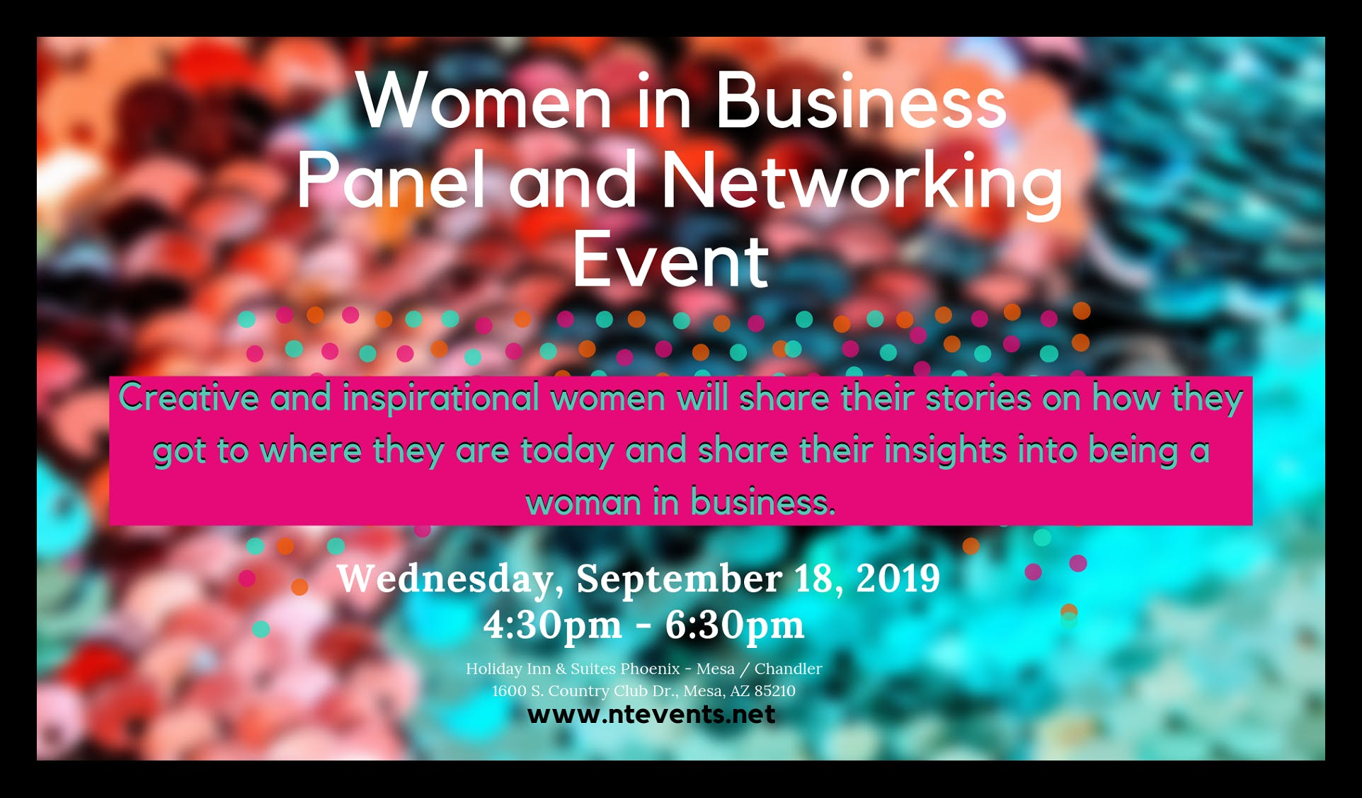 Women in Business Panel and Networking Event