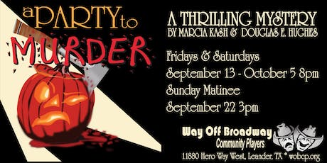 A Party to Murder: A Thrilling Mystery by Marcia Kash and Douglas E. Hughes tickets