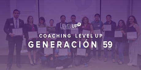 Coaching Level Up - Generación 59 entradas