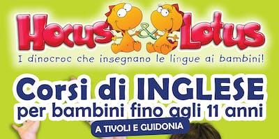 HOCUS&LOTUS  I dinocroc che insegnano l'inglese ai bambini OPEN DAY
