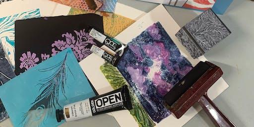 Printmaking with Acrylics Sampler