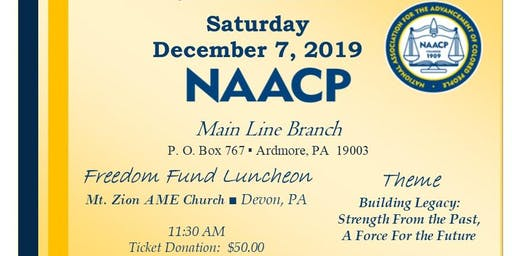 NAACP Main Line Branch Freedom Fund Luncheon