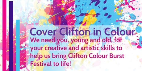 Clifton Colour Burst - Over 19's Watercolours - EARTH tickets