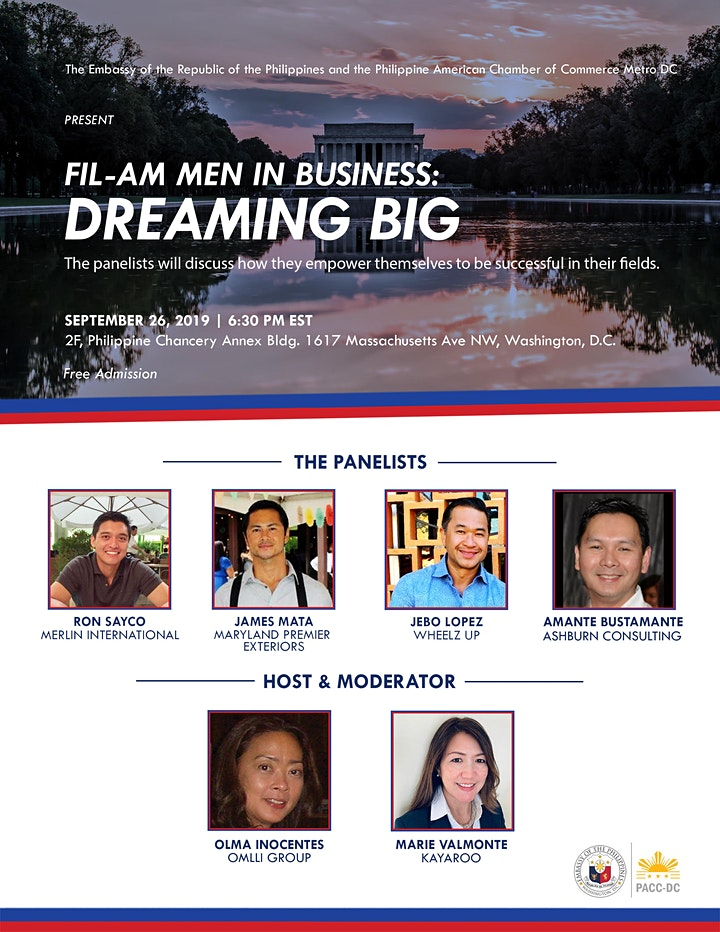 Fil- Am Men  in Business  - Dreaming Big image