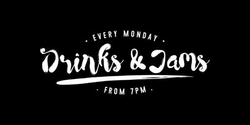 Drinks * Jams 26th August ft: Ryan Crick