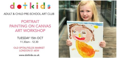 Pre-School Art Club: Portrait Painting On Canvas Children's Art Workshop tickets