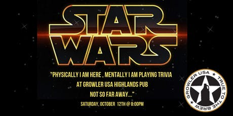 Star Wars Trivia at Growler USA Highlands Pub tickets