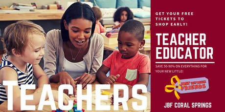 Teacher/ Educator FREE Pass | JBF Coral Springs | Oct 2 tickets