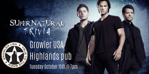 Supernatural Trivia at Growler USA Highlands Pub