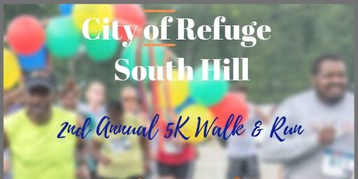 2019 Refuge Run - South Hill 5K Walk or Run