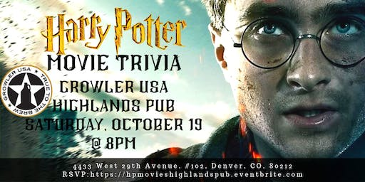 Harry Potter Movies Trivia at Growler USA Highlands Pub