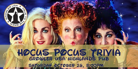 Hocus Pocus Trivia at Growler USA Highlands Pub tickets