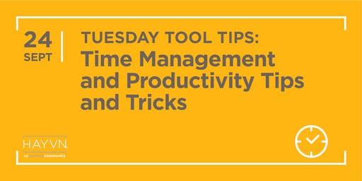 HAYVN WORKSHOP: Time Management + Productivity Tips & Tricks, Marketing Series
