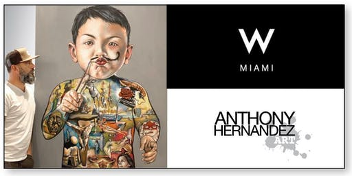 W MIAMI BRICKELL - LIVE PAINTING by ANTHONY HERNANDEZ