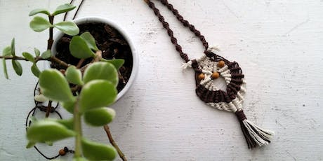 Macrame Owl Necklace or Key-chain Workshop tickets
