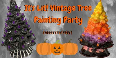 It's Lit! Vintage Tree Painting Party (Halloween Edition)