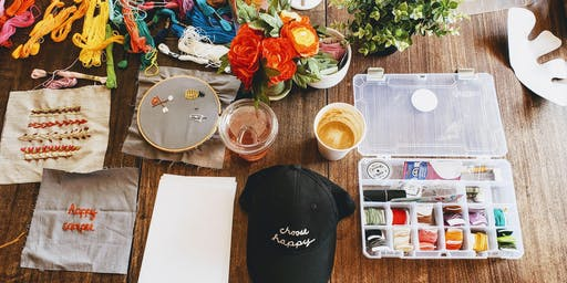 Sip & Stitch Embroidery Workshop