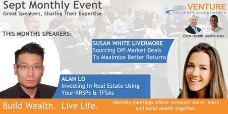 RRSP Investing and Sourcing Off-Market Deals - Sept 18th 2019 tickets