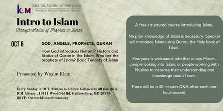 Intro to Islam : God, Angels, Prophets, Quran tickets