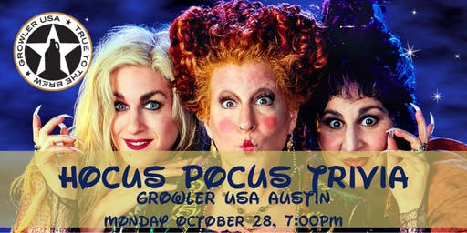 Hocus Pocus Trivia at Growler USA Austin