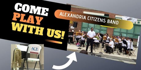 COME PLAY WITH US!  Join the Alexandria Citizens Band | FREE tickets