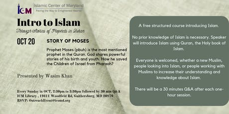 Intro to Islam : Story of Moses tickets
