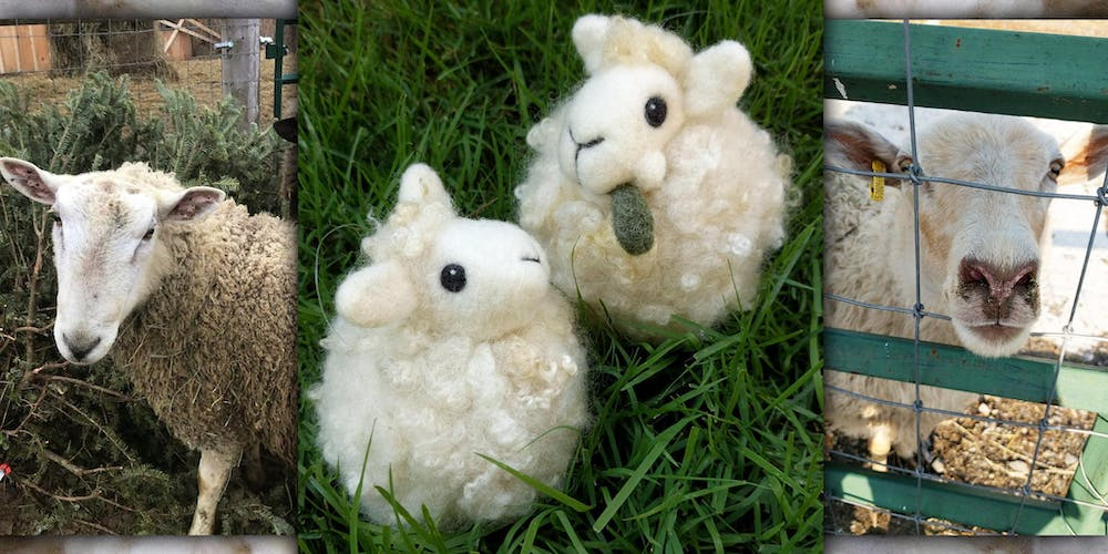 Needle Felt a Sheep Puff Ornament on the Fibre Farm Tickets