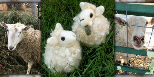 Needle Felt a Sheep Puff Ornament on the Fibre Farm