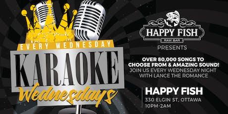 Karaoke Wednesdays @ Happy Fish (10pm-2am) tickets