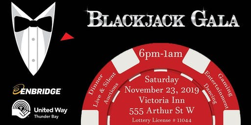 Enbridge Gas Inc and United Way of Thunder Bay present the Blackjack Gala