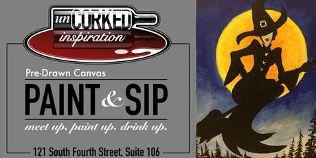 Paint & Sip | Halloween Witch tickets