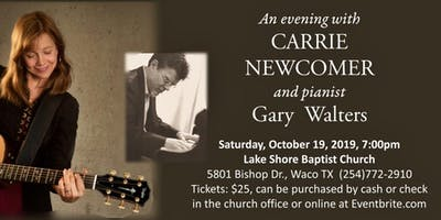 an evening with CARRIE NEWCOMER and pianist Gary Walters