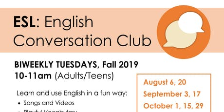 ESL Conversation Club tickets