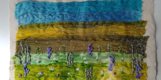 Hand Embroidered Landscapes Textile and Embroidery Workshops Staithes