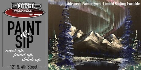 Paint & Sip | Aurora Mountains (limited seating) tickets