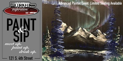 Paint & Sip | Aurora Mountains (limited seating)