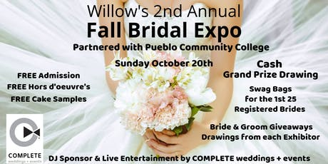 Willow's 2nd Annual Fall Bridal Expo tickets