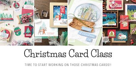 Christmas Card Class tickets