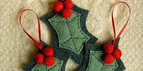 Felt Christmas Ornaments - St. Paul branch tickets