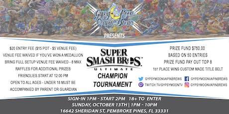 GypsyMoon Super Smash Ultimate Champion Tournament tickets