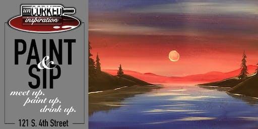 Paint & Sip   Lakeside Sunset