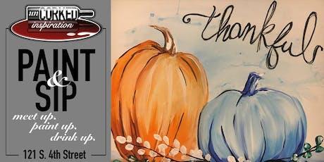 Paint & Sip | Thankful Pumpkins tickets