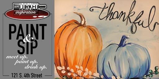 Paint & Sip | Thankful Pumpkins