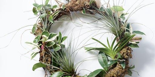 Large Living Botanical Wreath Workshop