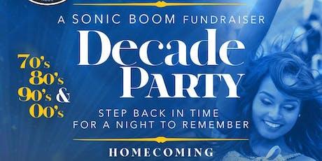 "Sonic Boom Alumni Association""Decade Party"" tickets"