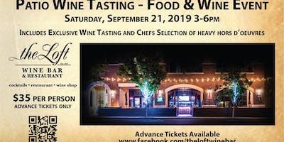 Patio Wine Tasting Food and Wine Event