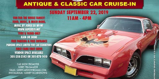 Antique Classic Car Show & Cruise-In