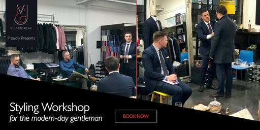 Styling workshop for the modern-day gentleman $179 redeemable gift voucher